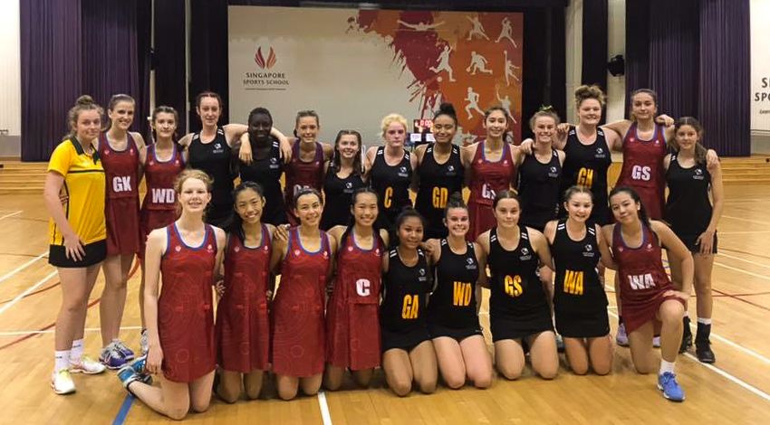 Specialist Netball Girls Take on Singapore
